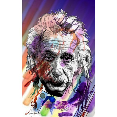 Albert Einstein - Portrait infographique