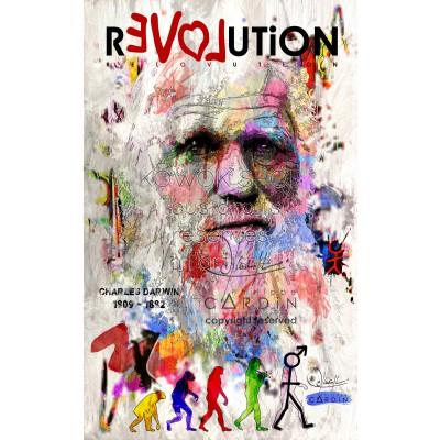 Charles Darwin - Portrait infographique