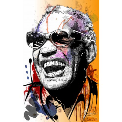 Ray Charles - Portrait infographique