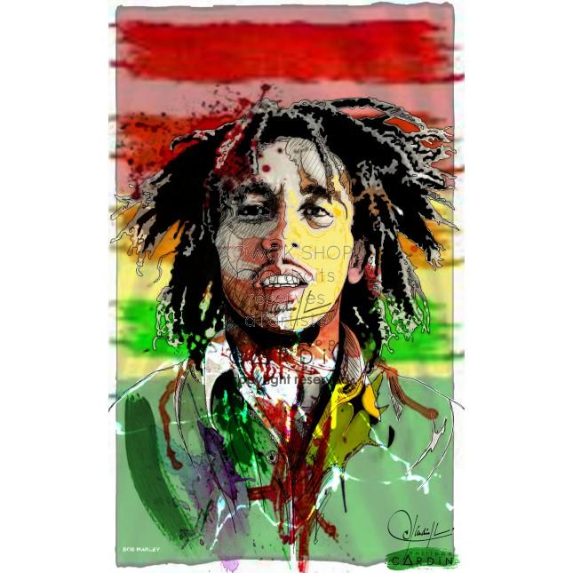 Bob Marley - Portrait infographique