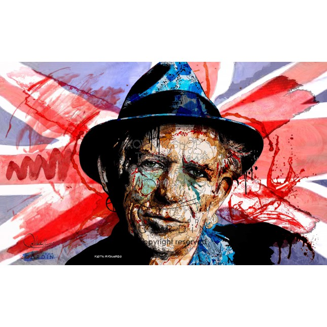 Keith Richards - Portrait infographique