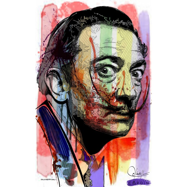Salvatore Dali - Portrait infographique