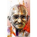 Mahatma Gandhi - Portrait infographique