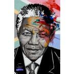 Nelson Mandela - Portrait infographique