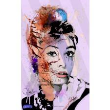 Audrey Hepburn - Portrait infographique