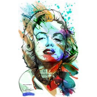 Marilyn Monroe - Portrait infographique