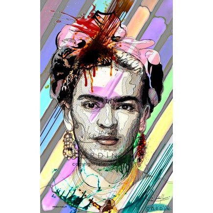 Frida Kahlo - Portrait infographique
