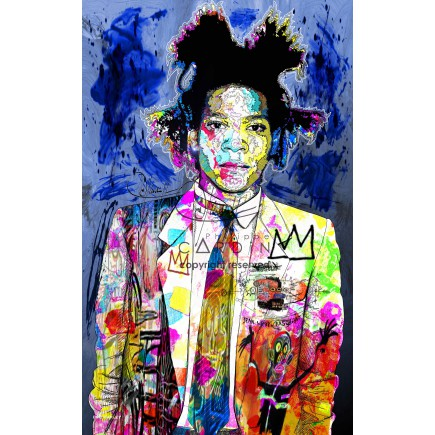 Jean-Michel Basquiat - Portrait infographique