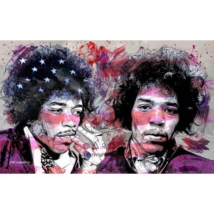 Jimi Hendrix - Portrait infographique
